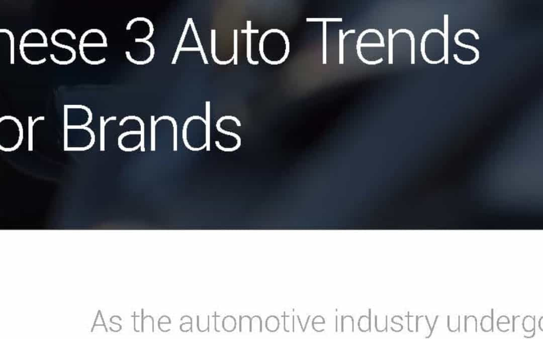Google: What these three auto trends mean for brands (2016)