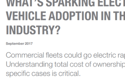 McKinsey&Company: What is sparkling electrical vehicle adoption in the truck industry? (2017)